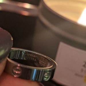 Love ring with engraving